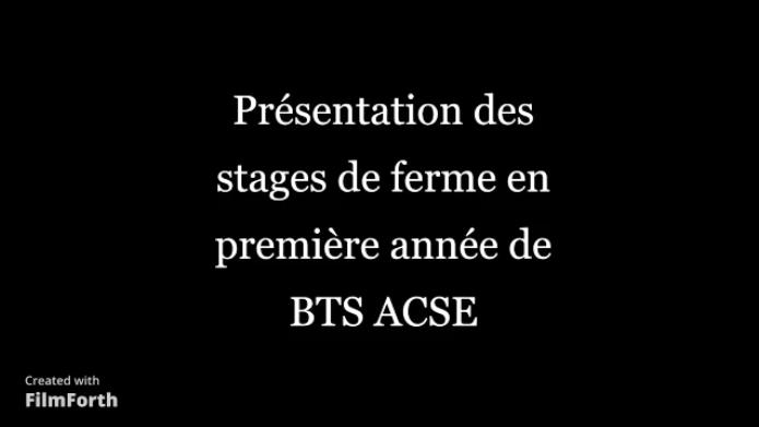 Stage de ferme en BTSA ACSE